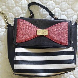 Betsey Johnson bow purse 100% pvc